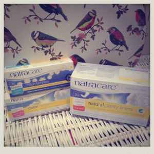 natracare organic tampons and towels